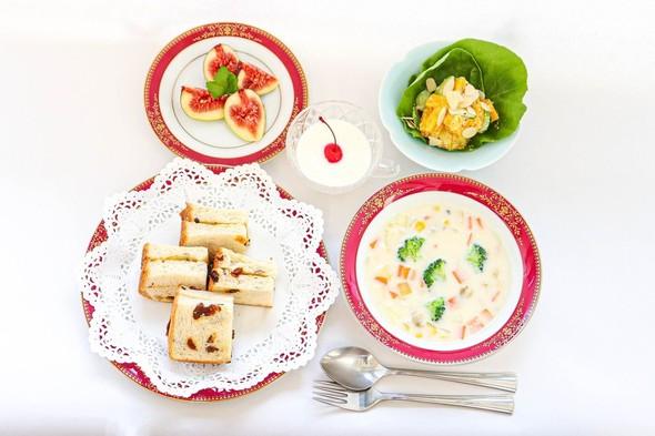 あさりチャウダー&南瓜とさつま芋のサラダ