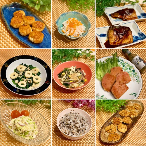 サバの味噌煮&鶏つくね&納豆ピカタ