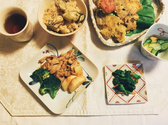 ブロッコリーと長芋と豚肉の中華炒め★