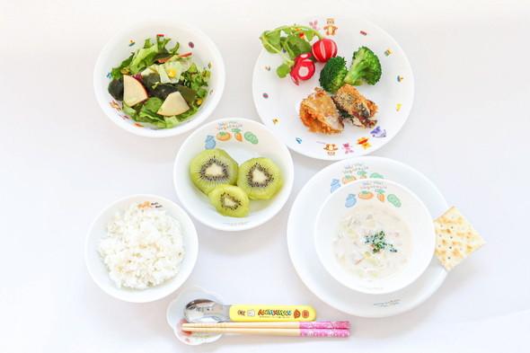 アジのチーズロールフライ&海藻サラダ