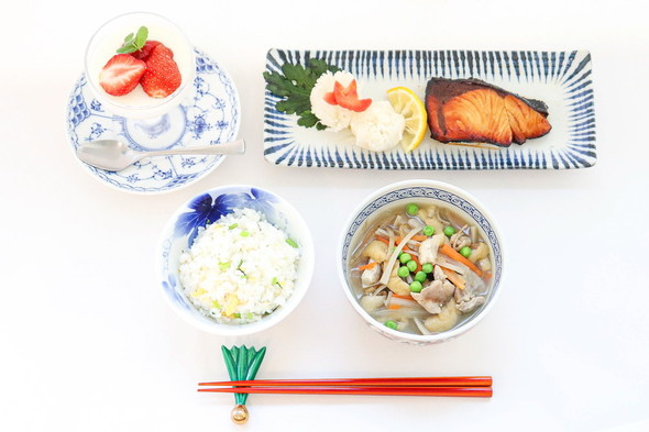 菊菜飯&ヒラマサの柚庵焼き