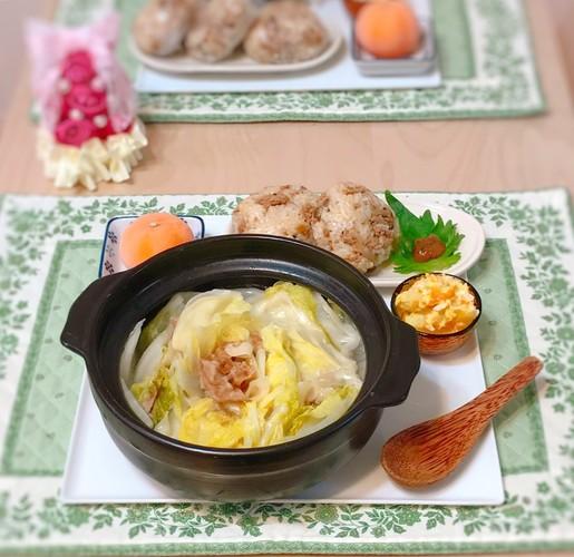 白菜と餃子の皮のミルフィーユ鍋