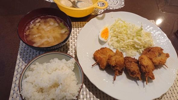 串カツ×即席ゴマドレッシング♡