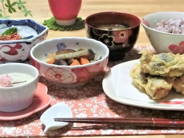 ♡いわしの大葉梅肉天ぷらで夕ご飯♡