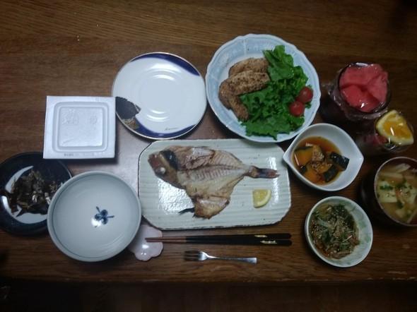 真鯛✨の一夜干し定食(^q^)☺⛄☕