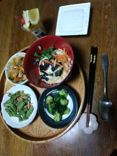卵と鰹節のお粥✳の和朝食☕☀