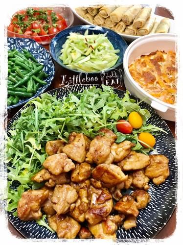 ☆鶏もも照り焼きチキン☆の夕ご飯✿