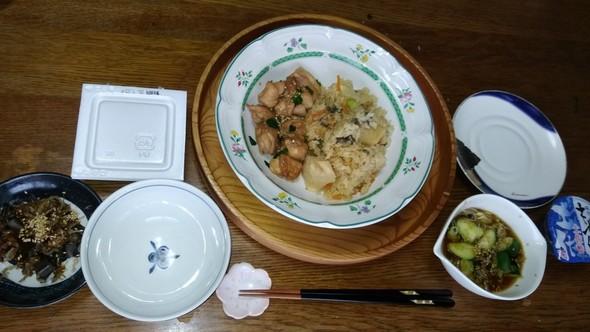 筍✨ご飯✳と鶏肉の照り焼き和定食☺✨⛄☕