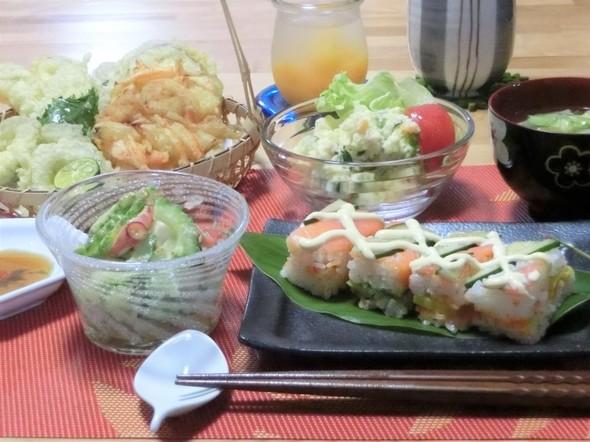 ♡暑いけど夏野菜の天ぷらで夕ご飯♡