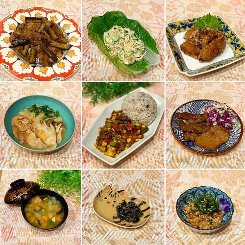 中華な鶏唐揚げ&野菜たっぷりドライカレー