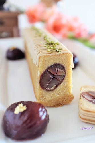 栗の渋皮煮のパウンドケーキで珈琲タイム♡