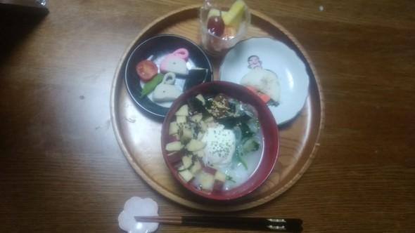 冬の寒い朝にも!七草粥の和朝食