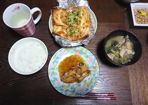 本日の晩ご飯~鯵のお酢煮~