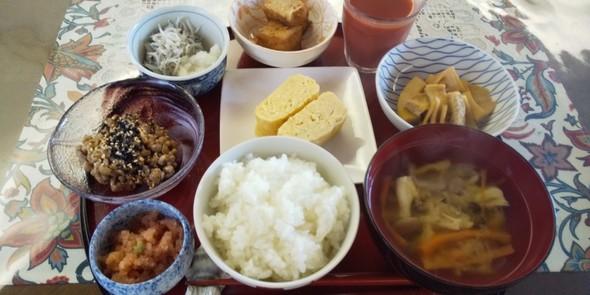 旬のたけのこで和朝食
