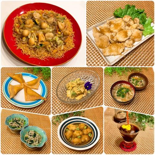 レンジで簡単♪本格八宝菜&中華丼、水晶鶏