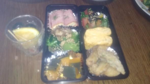(夕食)糖質制限!ワカナの竜田揚げ弁当