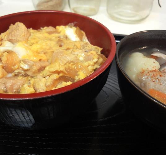 親子丼×けんちん汁