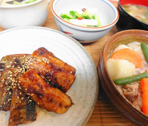 夕食*秋刀魚のコチュジャン焼き