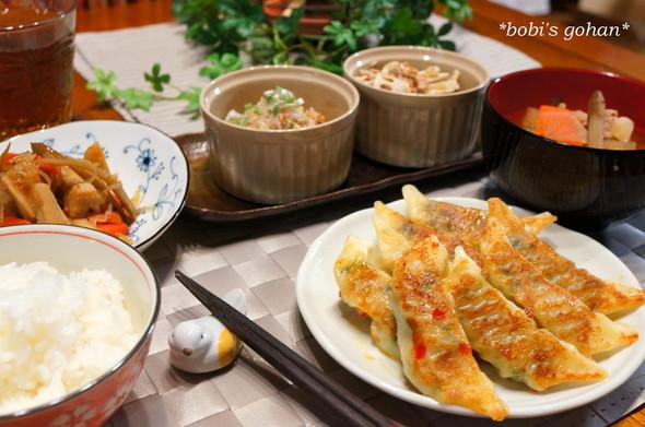 根菜いっぱいのヘルシー夕食♡