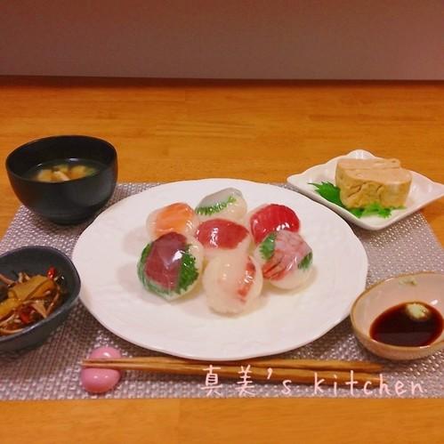 手鞠寿司の献立