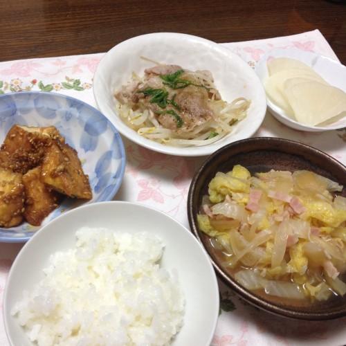 白ご飯がすすむ〜!夕食