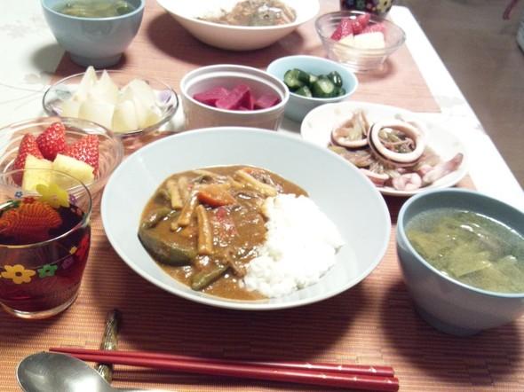 カレーを食べたい晩御飯③^^
