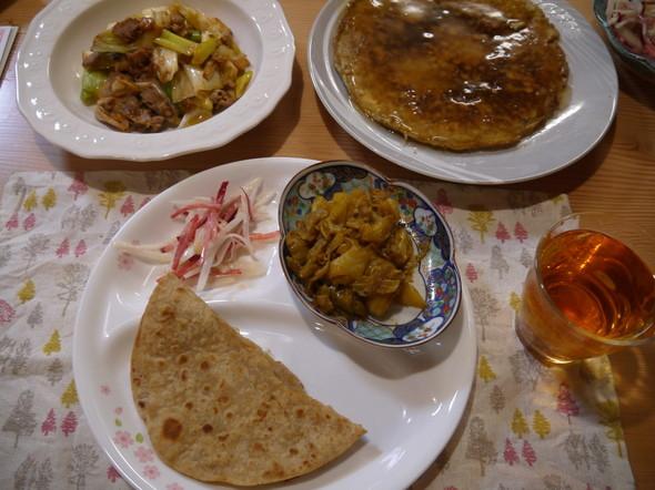 ネパール、和風と中華風コラボ晩御飯