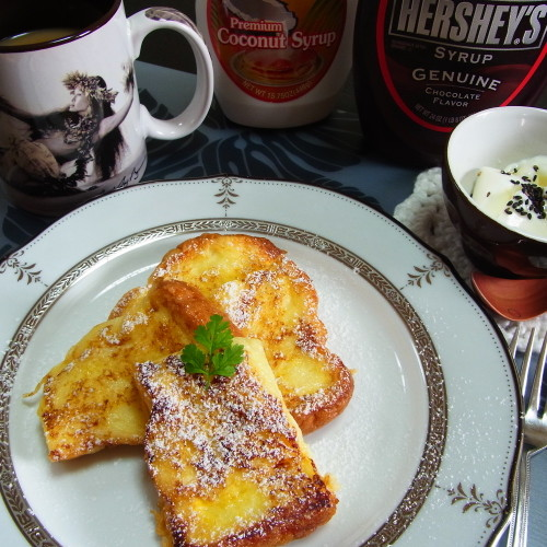 今日のお家朝ご飯