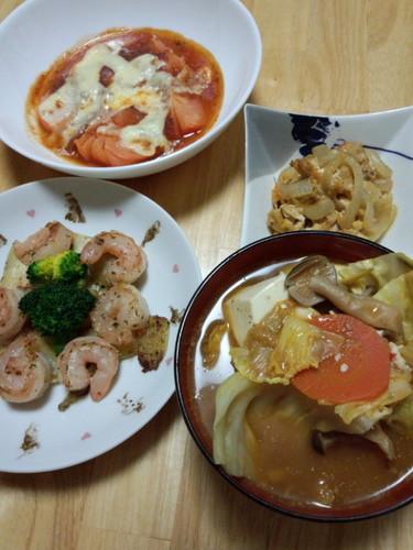 野菜たっぷり晩御飯^^