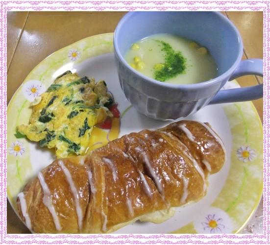 ☆休日の朝簡単朝食菓子パンで☆