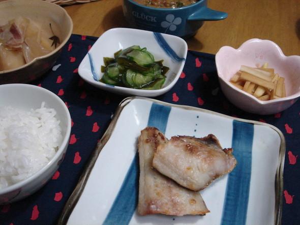 ◆夕食◆焼き魚の献立