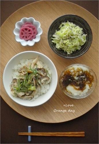 しめじあんかけ丼×白菜のシーザーサラダ