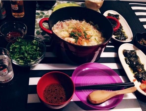ベーコンのミルフィーユ鍋で夜ごはん♡