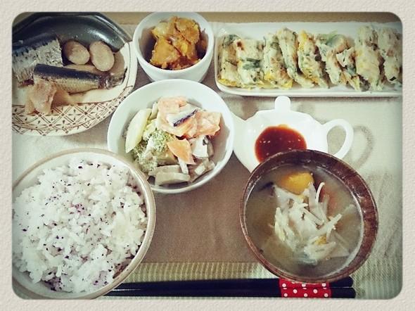 夕食*いわしのお酢煮
