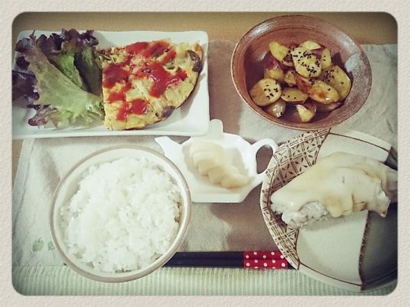 夕食*スパニッシュオムレツ