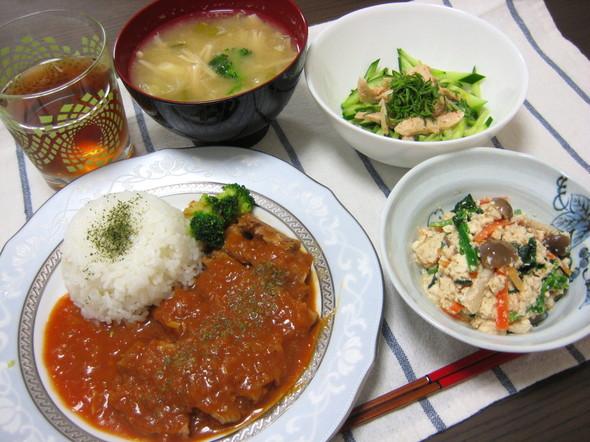 柔らかポークチャップ☆ディナー