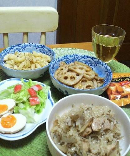12.12.14(金)鶏ごぼう炊込みご飯