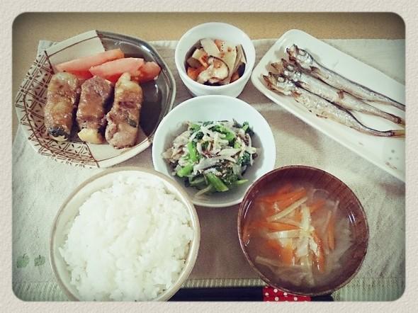 夕食*お豆腐豚生姜焼き