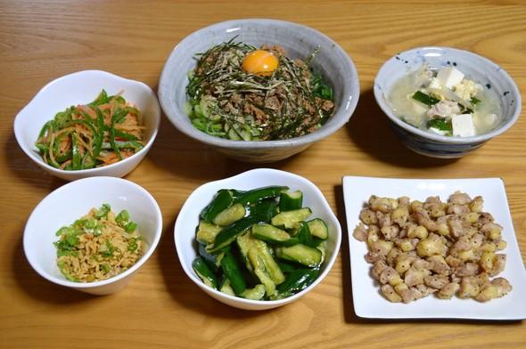台湾混ぜそばでガッツリ晩ご飯