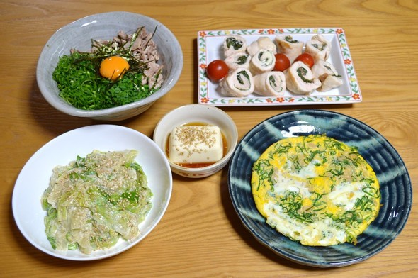 台湾料理がメインの晩ご飯