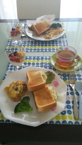 ☆朝食、ランチにポテトサラダサンド☆