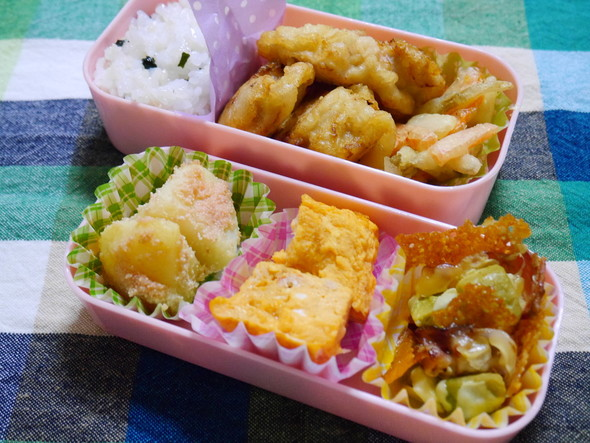 食材が少ない時の天ぷら弁当☆彡