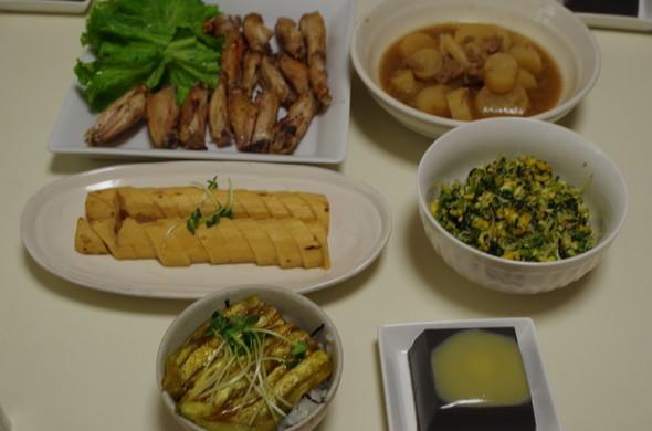 お野菜いっぱい晩御飯♪