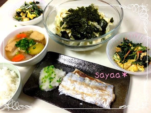 太刀魚の塩焼きに合うヘルシーバランス夕食