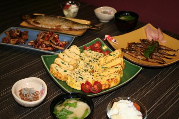 2014.5.15 ネギ入り卵焼き夕食♡