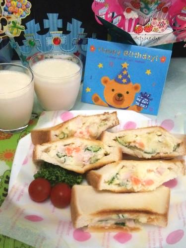 ☆息子の誕生日の朝食☆