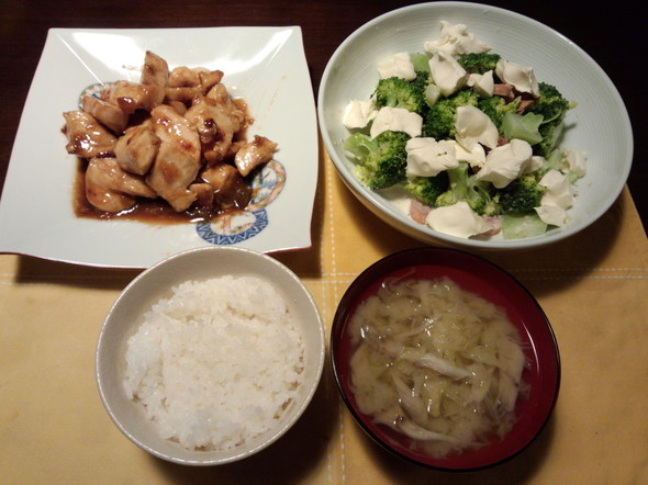 野菜、舞茸。20140528