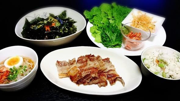 韓国料理の夜ご飯