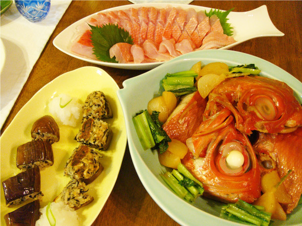 夕食☆金目鯛記念