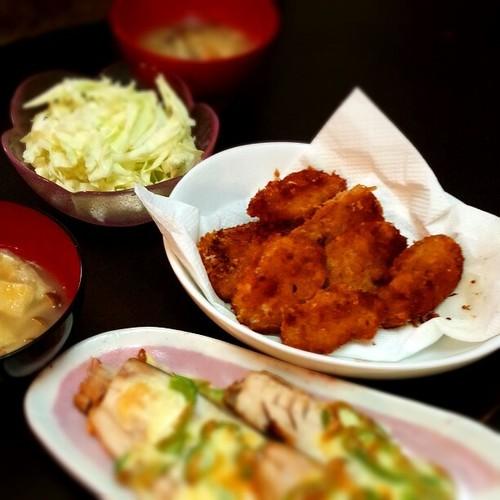 お肉とお魚Wメインの夜ご飯